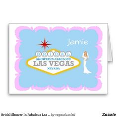Bridal Shower In Fabulous Las Vegas with BRIDE Car Card