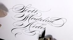 Writing names in calligraphy - YouTube