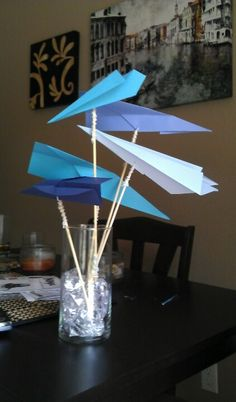 centerpiece with airplane - Google Search