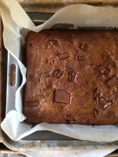Gingerbread choc-chip brownie!
