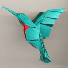 How to make origami hummingbird instructions. Easy origami hummingbird for kids and advanced hummingbird origami folding instructions for experts....looks absolutely amazing <3