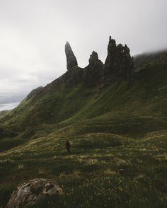 The Old Man of Storr really is a huge structure. In this picture it still is…