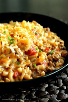 Easy Homemade Hamburger Helper -- everything cooks in one pot! Way healthier and still super easy.