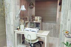RUSTIC flare nail technician room, station | home nail salon ideas | nail room decor