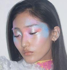 Image in imaginative makeup art collection by siscafewy Makeup Inspo, Makeup Art, Makeup Inspiration, Makeup Tips, Beauty Makeup, Eye Makeup, Hair Makeup, Hair Beauty, Goth Makeup