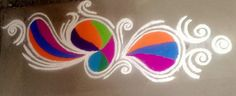 Get of beautiful rangoli designs for Diwali, New Year and Competition. Discover these beautiful rangoli designs of Ganesh, peacocks and with flowers. Small Rangoli Design, Colorful Rangoli Designs, Rangoli Designs Diwali, Diwali Rangoli, Kolam Designs, Mehandi Designs, Rangoli Colours, Rangoli Patterns, Rangoli Ideas