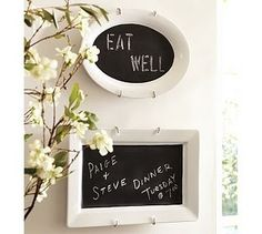 chalkboard paint on platters