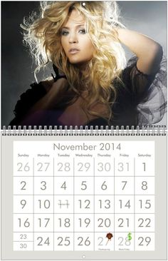 CARRIE UNDERWOOD 2014 Wall Calendar - $8.00 - EVERYTHING MUST GO!!! CLEARANCE SALE