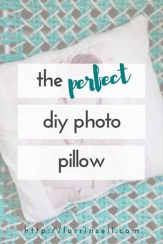 these are just the cutest diy photo pillows!! i love a good personal gift!