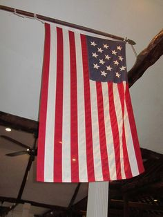 St. George, Bermuda ~ The Stars and stripes dating from 1815 hanging in St Peter's Church. Notice it only has 15 stars on it.