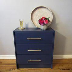 The Auburn Fox Blog: Ikea Rast Hack. Navy and gold combo