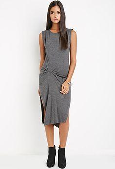 Gathered Midi Dress | LOVE21 - 2000179653