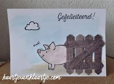 Kaartje van Klaartje: This Little Piggy, Wood Textures DSP, Stampin' Up!