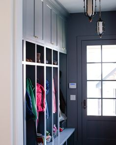 A hardworking mudroom CAN be beautiful! Right?! Desig