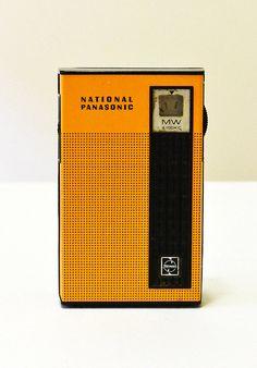 Portable National Panasonic Retro Transistor Radio by RedTinShed, $20.00