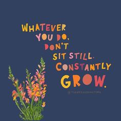 Rest, yes. But don't stagnate. Whatever you do, constantly grow. 💕 Staying interested and showing up is the essence of life. 🙌🏽 As the good (and her awesome shirts say) the Not Quitting is the Winning. Happy Quotes, Positive Quotes, Motivational Quotes, Inspirational Quotes, Positive Mind, Pretty Words, Beautiful Words, Growing Quotes, Illustrated Words
