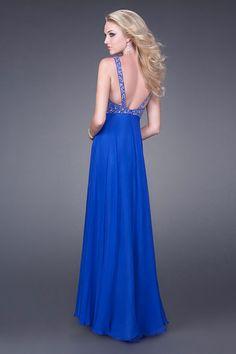 Empire V-Ausschnitt Chiffon bodenlanges elegantes Abendkleid