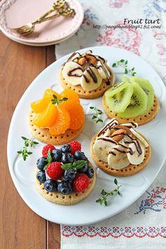 型なしサクサクフルーツタルト☆ホットケーキミックスで簡単お菓子|レシピブログ