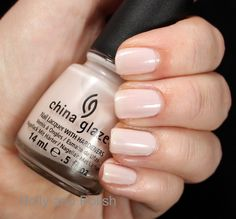 China Glaze Angel's Breath from Breast Cancer Awareness 2012 collection. Perfect creamy palest pink neutral.