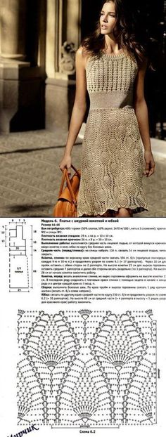 Стильное платье крючком. Вязание крючком с подиума   Все о рукоделии: схемы, мастер классы, идеи на сайте labhousehold.com