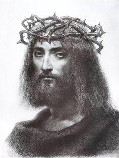 Artur Grottger - Chrystus w koronie cierniowej