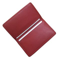Royce Leather Business Card Case, Adult Unisex, Red