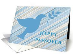Dove with Branch, Happy Passover card