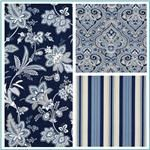 oh wow ...  but is it too much blue?  Waverly Barano Indigo Collection