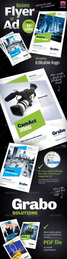 Print Templates - Business Flyer / Ad / Product sheet | GraphicRiver