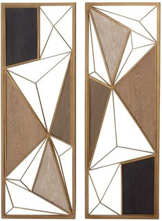 Cosmoliving By Cosmopolitan Set Of 2 Modern Reflections Wall Plaques