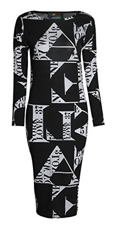 Forever Womens Long Sleeves Printed Bodycon Long Stretchy... .amazon.com