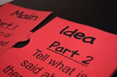 Strategies for teaching students that just don't understand main idea.