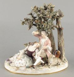 Meissen Porcelain Manufactory (Germany) — Figural Group  (500x590)