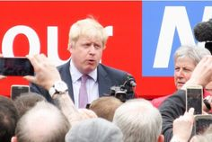 """TORY heavyweight and prominent """"Brexit"""" campaigner Boris Johnson went bananas during his visit to Stafford.       The Vote Leave """"battle bus"""" was touring the region today to rally..."""