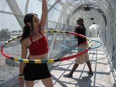 """Tisha """"Hooping gives my students another avenue. There's nothing in their area when it gets dark. The gangs come out, pimps come out, drug users come out, and my youth are their prey so if I can have them at home hula- hooping, then that gives me my joy."""""""