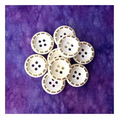 6 Marble Effect Dimple Buttons 18mm 23mm Purple Red Grey Black Brown White Green