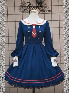 Cookie Bear Preppy Age series pre-order - one. Kawaii Dress, Kawaii Clothes, Harajuku Fashion, Lolita Fashion, Anime Outfits, Cute Outfits, Emo Outfits, Pretty Dresses, Beautiful Dresses