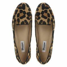 DUNE LADIES Brown LIMBO - Leopard Print Pony Slipper Shoe | Dune Shoes Online