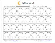 free moon journal worksheet