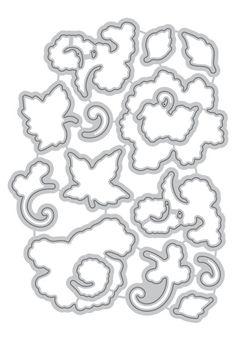 Lacy Scrolls Die set