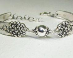 Fork Bracelet Antique Spoon Bracelet by SpoonfestJewelry on Etsy