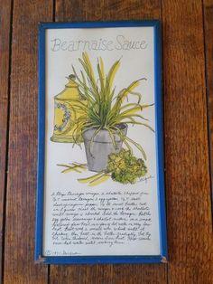 Vintage Bearnaise Sauce 1971 Jacque Recipe Art Soovia Janis Kitchen Retro #Vintage