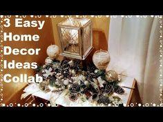 "3 Easy Home Decor Ideas ""DIY Dollar Tree Decor"" Christmas Centerpiece Decor Dollar Tree Decor, Dollar Tree Crafts, Candle Centerpieces, Christmas Centerpieces, Candles, Interior Decorating Styles, Home Decor Styles, Decorating Ideas, Asian Home Decor"