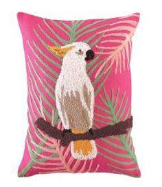 Tropical Cockatoo Throw Pillow