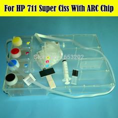 34.20$  Buy here - http://aiheu.worlditems.win/all/product.php?id=32350650204 - DIY With Permanent ARC Chip For HP 711 CISS System For HP Designjet T120 T520 120 Printers Ciss 36/24 inch