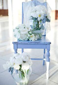 The Perfect Palette: A Sweet Soiree: {Powder Blue, Gray + White}