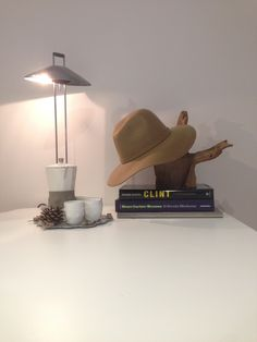 #ligth #coffe #interior #minimal #ospedaletto57 #vacanzenellaia #romagna #clinteastwod #books #hat #camel #table #white