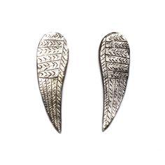 Silver Wing Earrings by Datter Silver Wings, Wing Earrings, Jewels, Jewellery, Accessories, Jewelery, Jewelry Shop, Jewerly, Gem