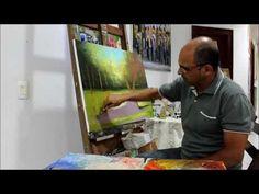 Aula de Pintura em Tela com Dicas e Técnicas Iniciais - Vídeo 2 | Professor Costerus - YouTube