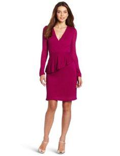 Kenneth Cole Women's Peplum Dress With Ruffle Detail #dress #dressruffles #womensdress #dresswithruffles